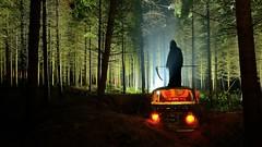 LET'S HIKE (palateth) Tags: lightpainting night death woods belgium belgique belgie urbanexploration van terrypratchett urbex lightart