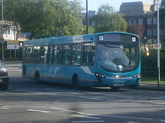 3758 @ Stafford train station (ianjpoole) Tags: park 2 bus station technology working route cannock wright 74 pulsar midlands stafford arriva vdl 3758 sb200 yj61feh