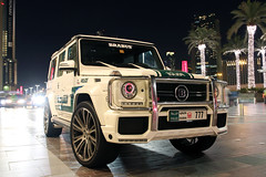 Mercedes-Benz Brabus G 700 Widestar (R_Simmerman Photography) Tags: white green marina mall hotel spring dubai boulevard walk g garage united parking main uae entrance police emirates khalifa arab mercedesbenz saudi kuwait 700 abu dhabi tuning qatar burj supercars valet combo brabus jbr 2016 sportcars dubaicars hypercars widestar carsofdubai
