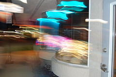 Restaurant blur (ethanfeck) Tags: city nikon exposure downtown neon nikond40 vsco