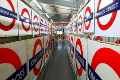 Underground To Everywhere (crashcalloway) Tags: sign vanishingpoint bullseye londonunderground acton roundel londontransport destinations londontransportmuseum