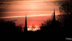 red dawn (thrbnzzyzx) Tags: city sunset red sky rot church clouds sonnenuntergang hamburg kirche himmel wolken stadt