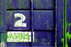 2 (Andrea Kennard) Tags: street abstract detail reflection texture sign metal architecture silver design symbol metallic background text decoration digit objects plate number font type address