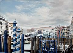 Last view on the Canal Grande (Mon Cabinet de Curiosits - Izzy) Tags: venice canal grande grand ponte gondola venise venezia venedig vechio gondoles palines