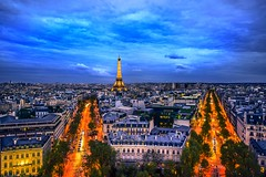 Arc de Triomphe view (Ariel_Franco) Tags: paris france night lights luces noche view eiffeltower torreeiffel francia arcdetriomphe mirador arcodeltriunfo
