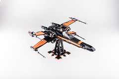 Lego_starwars_5661 (kyl080) Tags: orange black star stand starwars fighter lego whitebackground xwing wars minifigs custom poe moc 2016 dameron 75102