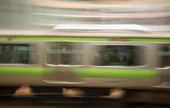 Speeding Train  -  Yamanote Line  - Tokyo (fotographis) Tags: leica japan train tokyo movement shibuya trainstation slowshutter yamanoteline leicam 90mmsummicron leicam240