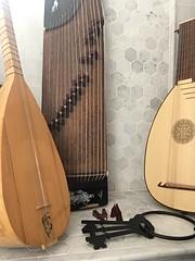 Baglama Saz, Gu Zheng, 8 Course Lute, Skeleton Keys. (Gary W.W. II) Tags: musicalinstruments music skeletonkeys baglamasaz guzheng lute archlute