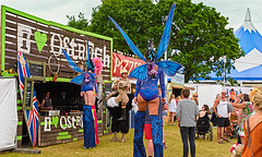 I love Ostrich and Fairies (Gazza Photography) Tags: carnival girls music food fun wings market artists isleofwight fairies isle stilts wight ostriches photooftheday isleofwightfestival iwfestival iow2016