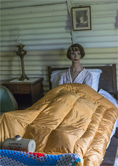 Relaxing in bed (Clive1945) Tags: ashdowncamp d7100 bedroomscene bed ladyinbed demure