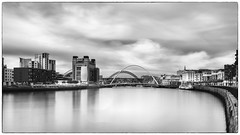 Newcastle Quayside L.E. (Kevin_R_Shaw) Tags: longexposure water blackwhite bridges manfrotto newcastlequayside leefilters leebigstopper leelittlestopper sonyfe1635mmf40zaoss sonya7rii nisicircularpolariser nisiv5100mmfilterkit