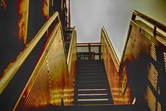 Treppe zum Hochofen (benni_sc) Tags: treppe duisburg landschaftsparknord hochofen
