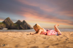 "This was the last shot I made yesterday at Three Cliffs Bay... ""Golden Hour"" (Margarita K...) Tags: portrait beach childhood southwales wales golden bay three sand nikon child south ngc cliffs hour goldenhour fairytales beautifulwales mkphotography d5200 margaritakphotography"