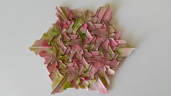 Trumpet Vine by Mark (Monika Hankova) Tags: abstract paper origami tess tessellation paperfolding colouring