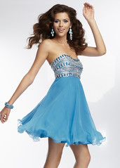 Mori Lee 9258 Blue Strapless Chiffon Homecoming Dress (miyadresses2016) Tags: bluedress cocktaildresses partydresses shortdress sexydress homecomingdrsss graduationdress stunningdress sequindress
