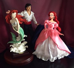 Oh Eric, you shouldn't have! (Richard Zimmons) Tags: ocean sculpture art ariel bride eric doll princess little prince disney figure 1997 mermaid figurine mattel guiseppe armani