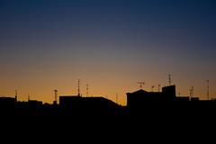 Skyline (jorgegonzalezgl) Tags: city blue sunset orange color yellow gradient