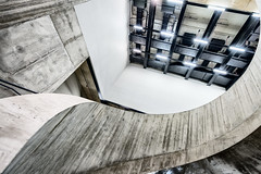 Tate Twist (Sean Batten) Tags: city england urban london wall museum architecture stairs spiral concrete lights nikon artgallery unitedkingdom tate tatemodern gb d800 switchhouse 1424 photo24london
