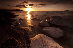 Golden Pathway_DSC6965 (antelope reflection) Tags: sunset lake reflection beach water clouds nikon state salt antelopeisland parkgreat d90utahutah