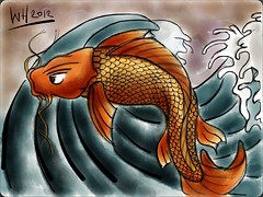 Koi sketch #MadeWithPaper (WouterZArtZ - Dutch Designs!) Tags: fish illustration sketch koi doodles ipad madewithpaper ipad2 paperapp