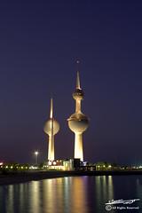 Kuwait Towers (Yousef Zaman) Tags: city sea canon capital towers kuwait scape zaman