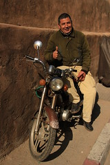 Proud (Lig Ynnek) Tags: africa up proud pride motorcycle thumbs owner rabat