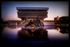 New York State Museum Albany New York (Ronaldo F Cabuhat) Tags: longexposure nightphotography travel ny reflection water architecture canon photography place hdr hdri newyorkstatemuseum highdynamicrangeimaging