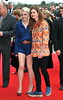 Evanna Lynch and Bonnie Wright The worldwide Grand Opening event for the Warner Bros. Studio Tour London 'The Making of Harry Potter' held at Leavesden Studios London, England