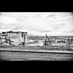 On the road - #143 (Marckovitch) Tags: road blackandwhite bw blancoynegro landscape southafrica noiretblanc paysage ontheroad nomansland township inthemiddleofnowhere canonef50mmf14usm afriquedusud canoneos5dmarkii canoneos5dmark2 silverefexpro2 howdoyouhidemillionspeople