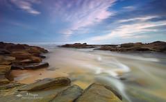 Water on the Rocks. (P S H Morgan) Tags: ocean longexposure water clouds river rocks australia victoria gippsland nd400 basscoast
