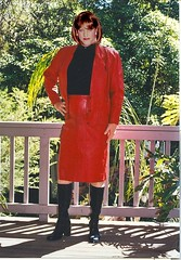 Leather Suit 5a (Melissa451) Tags: leather boots cd melissa suit crossdresser