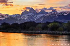 Teton River Sunrise (James Neeley) Tags: mountains sunrise landscape grandtetons tetons hdr tetonvalley 5xp jamesneeley