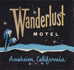 Wanderlust MOTEL Anaheim CA (hmdavid) Tags: california vintage motel wanderlust 1950s 1960s anaheim matchbook matchcover