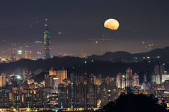 101 () Tags: moon night taiwan super 101 taipei