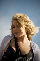 Megan (declanjdillon) Tags: california sky beach girl hair 50mm nikon wind blonde d300 f14d