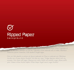 Ripped Paper Background (DryIcons) Tags: red paper book design background ripped vector teared