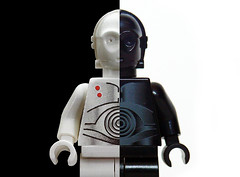 The Dark Side of the 3PO (Oky - Space Ranger) Tags: white black dark death star lego side wars clone droid c3po protocol minifigure k3po