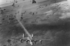 B-24: Damaged in flak alley, but homeward bound