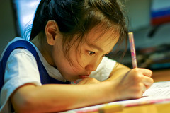 Knowledge (spintheday) Tags: school girl writing study knowledge homework canonef50mmf18ii