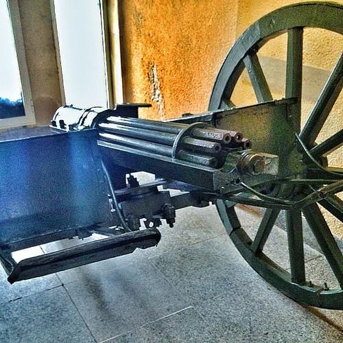 Very old Gatling gun.