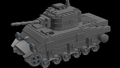 LEGO M4A3 Sherman Medium Tank (zalbaar) Tags: world 2 digital war tank lego designer wwii ww2 sherman ldd brickarms m4a3 zalbaar