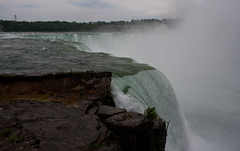 Tumbling over the falls (Tim Conway) Tags: park summer panorama cliff usa white mist newyork ontario canada water america island niagarafalls us waterfall scenery whitewater unitedstates state united side may goat panoramic canadian niagara falls spray rapids american waterfalls edge views vista newyorkstate horseshoe states pour stitched torrent 2012 turbulence horseshoefalls escarpment goatisland horseshoeniagara