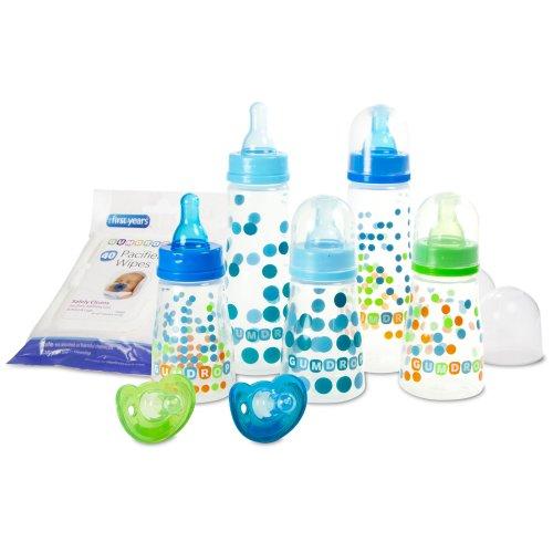 福喜儿The First Years Gumdrop Bottle Starter Set新生儿喂养十件套$13.25
