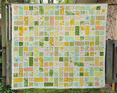 A quilt for ME! (emmmylizzzy) Tags: modern quilt queen fabric patchwork niceyjane
