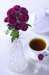 [4/4]   (Fahad Al-Robah) Tags: morning pink flowers flower cup rose breakfast tea violet    polychrome