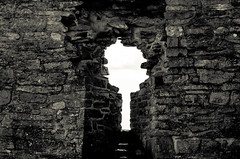 The Keyhole // (Auensen::) Tags: light bw church june wall dark blackwhite nikon stones details nikkor keyhole oldchurch f28 2012 105mm monotones d7000 nikond7000 nikonnikkor105mmf28