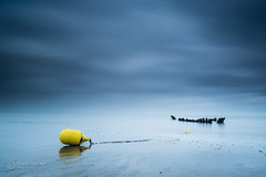 Berrow blue (with a hint of yellow!) (images through a lens) Tags: uk sea england coast europe unitedkingdom britain somerset coastal buoy burnhamonsea brean berrow