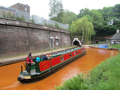 UK - Staffordshire - Newcastle-under-Lyme - Kidsgrove - Narrow boat entering North Portal of Harecastle Tunnel on Trent & Mersey Canal (JulesFoto) Tags: uk england staffordshire narrowboat ramblers newcastleunderlyme trentmerseycanal kidsgrove harecastletunnel wolverhamptonramblers