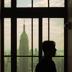 empire state of mind (fotobananas) Tags: nyc newyork window silhouette view manhattan rockefellercenter empirestatebuilding roomwithaview stateofmind s95 empirestateofmind fotobananas