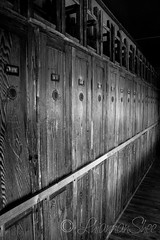 Dachau - A row of Wardrobes (LhiannanShee) Tags: bw germany munich wardrobe dachau excursion concentrationcamp barrack mygearandme ringexcellence rememberthatmomentlevel1